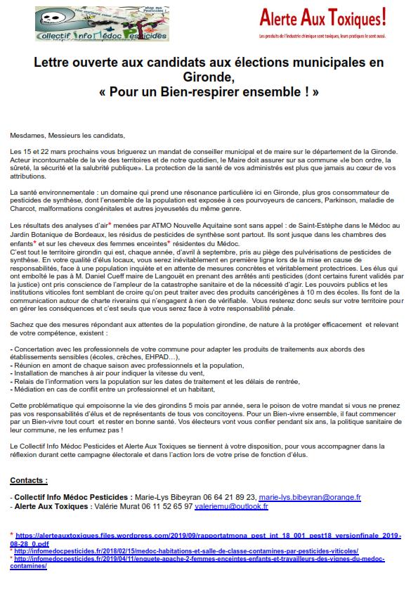 Lettre ouverte aux candidats aux élections municipales en Gironde_001