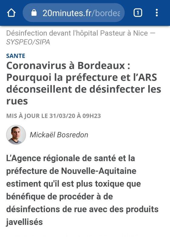 interdiction desinfection rue prefete bx